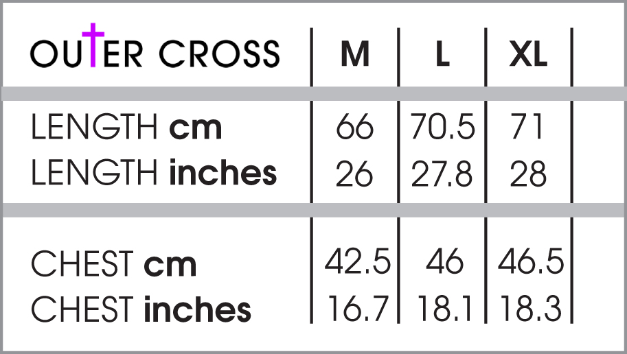 Ladies t shirt size chart