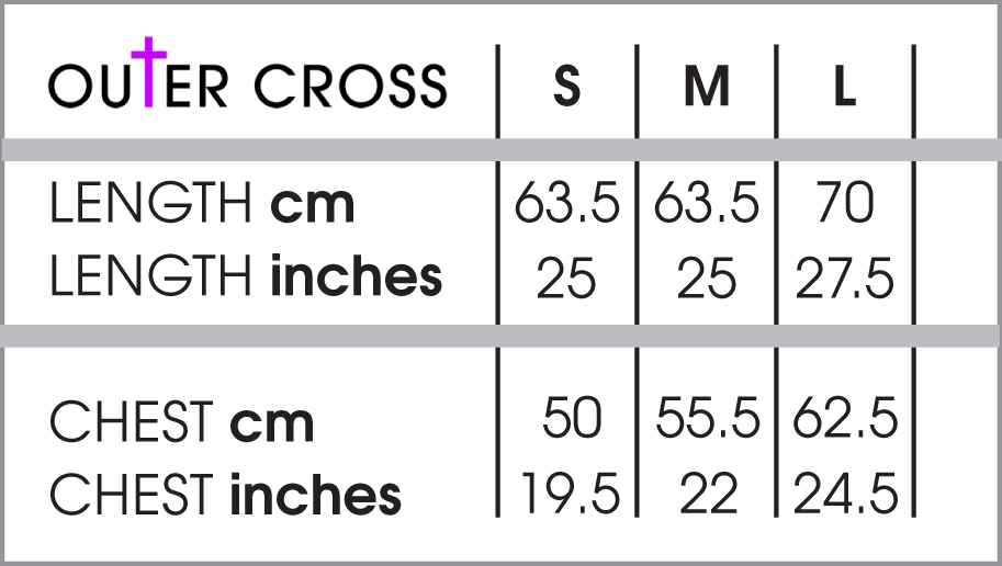 Sweater t shirt size chart