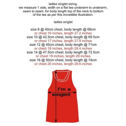 Singlet ladies measurements