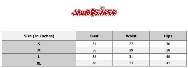 Jawbreaker size chart