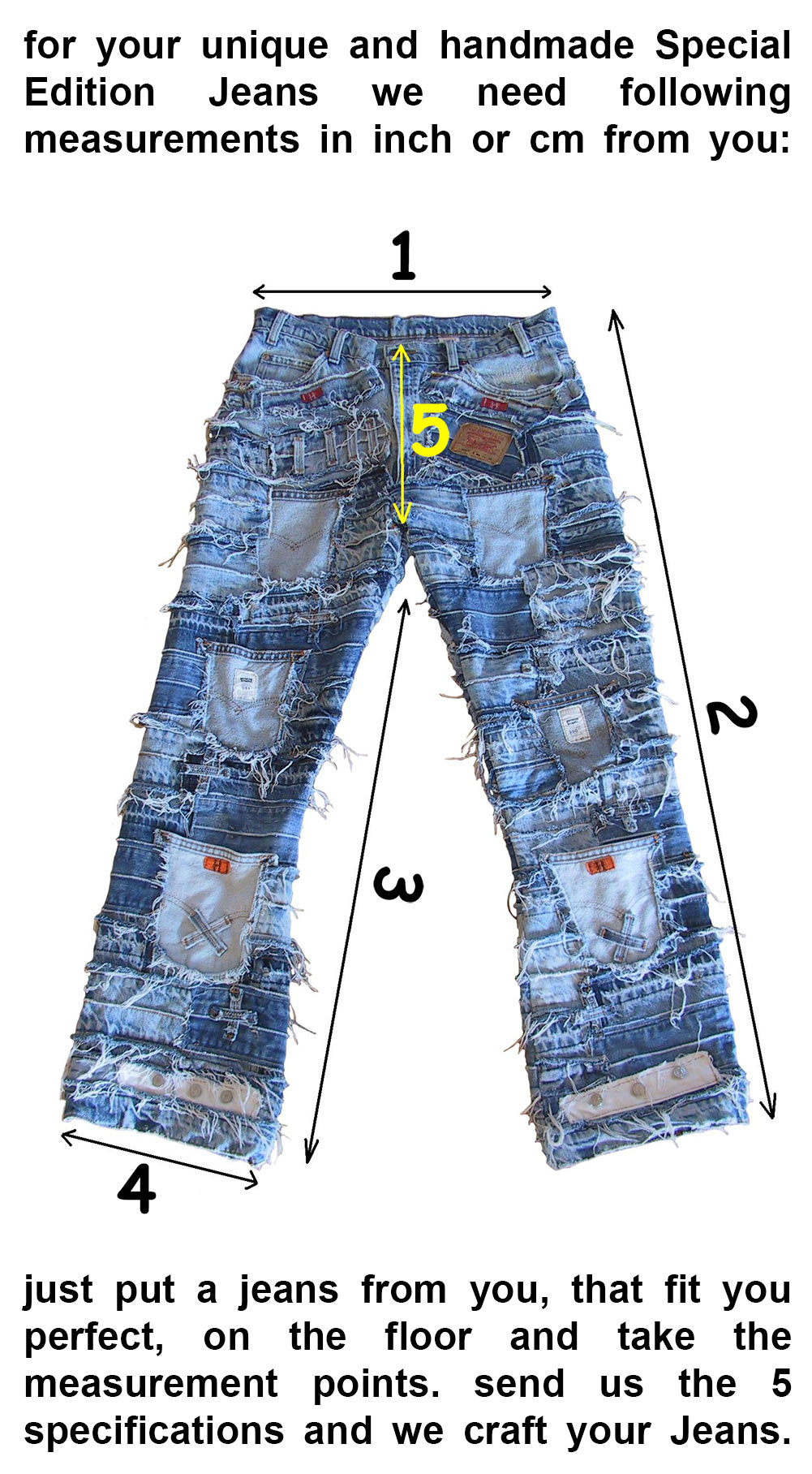 Special edition jeans measurements