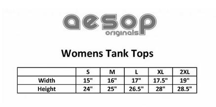 Aesop women's tank top size chart