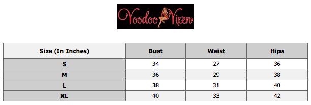 Voodoo vixen size chart 7d76d03b b6e7 4cae 85c1 4e2d9d741fda