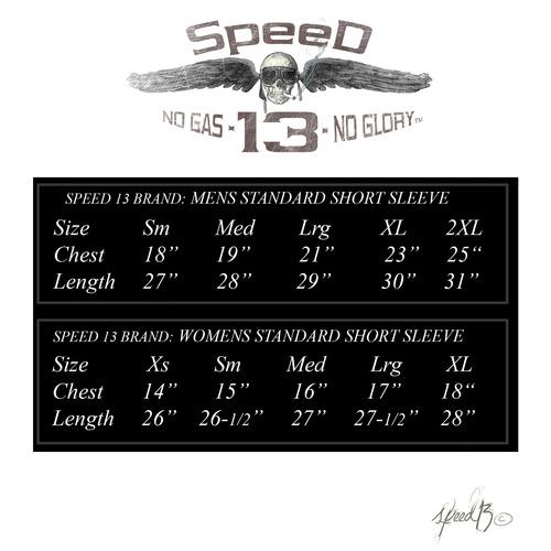 Speed sizing chart