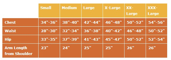Men size chart