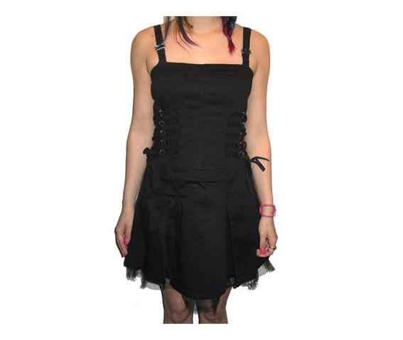 Tripp nyc black corset lacing ruffle dress dresses 2