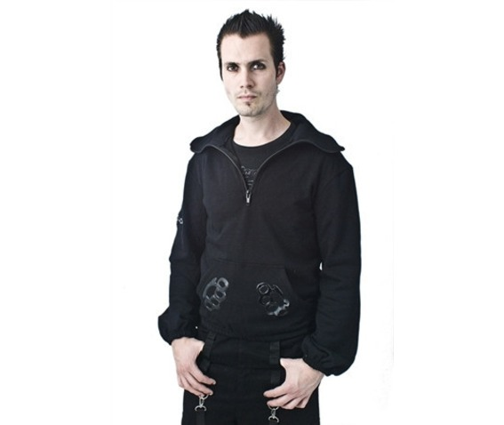 Necessary evil knuckle duster hoodie jackets 2