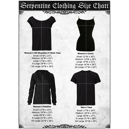 Serpentine clothing size chart medium