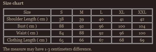Size chart 4