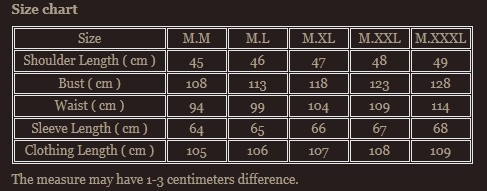 Size chart 9
