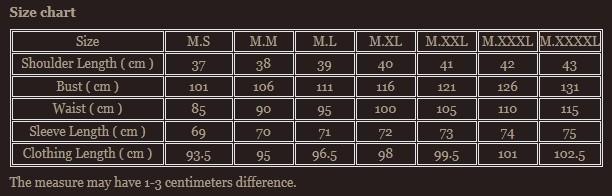Size chart 10