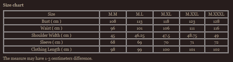 Size chart 11