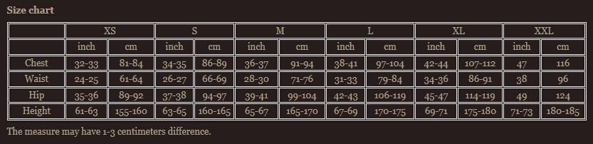 Size chart 3