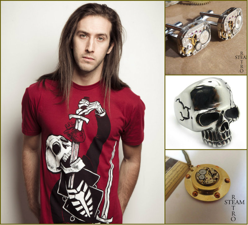 Steampunk men jewelry