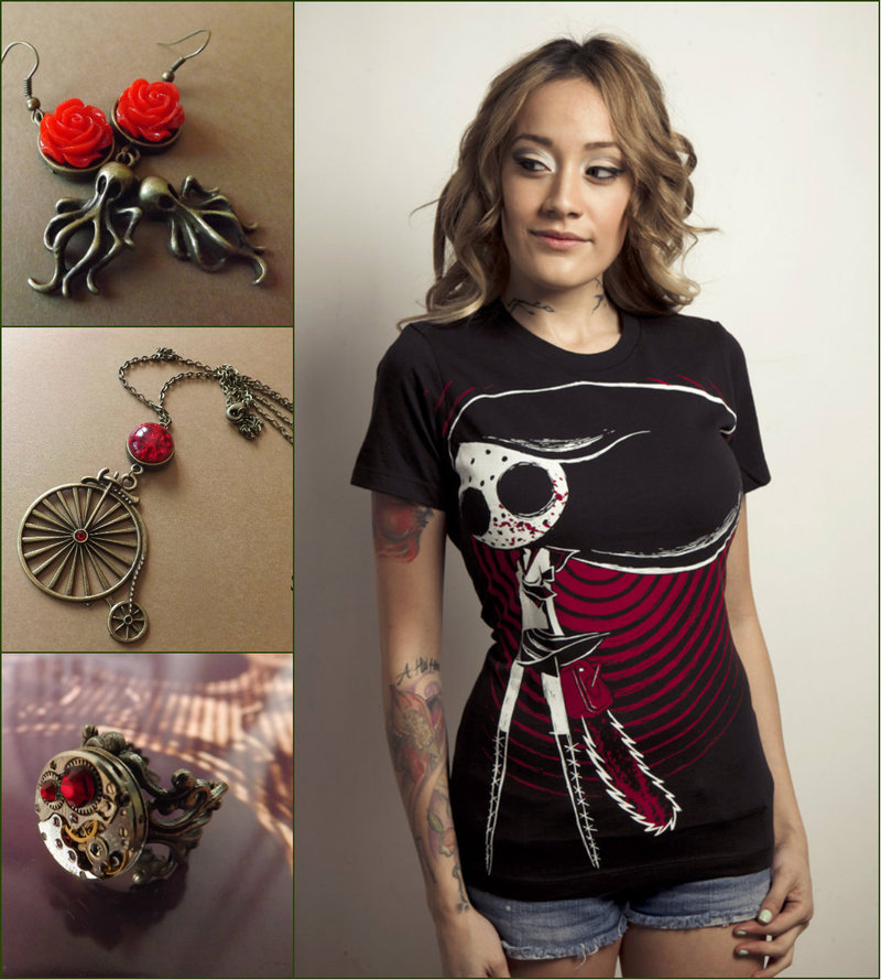 Steampunk women jewelry