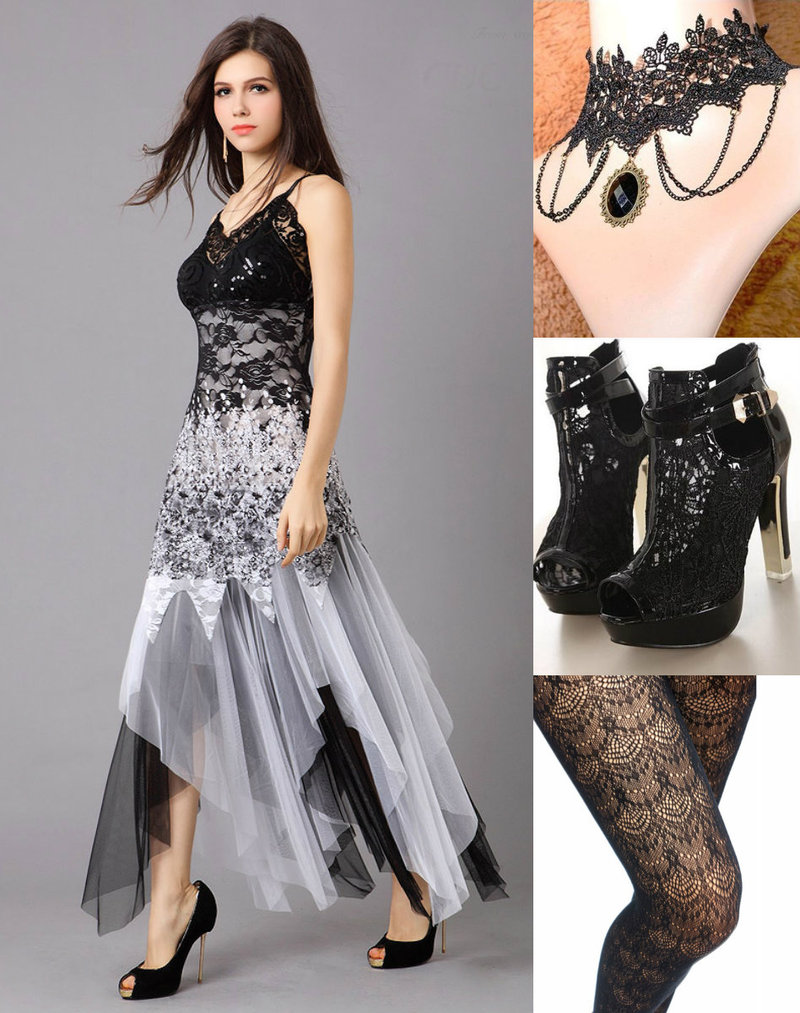 Goth lace fashion
