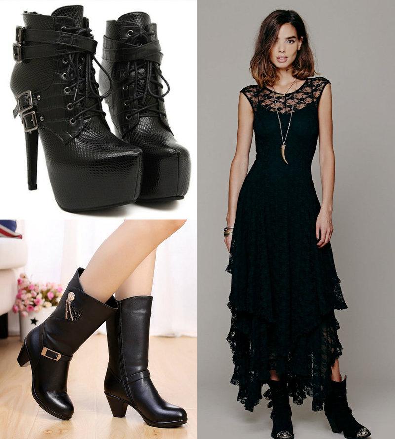 Goth women boots