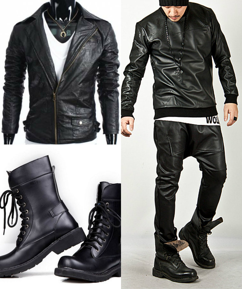 Goth men fashion