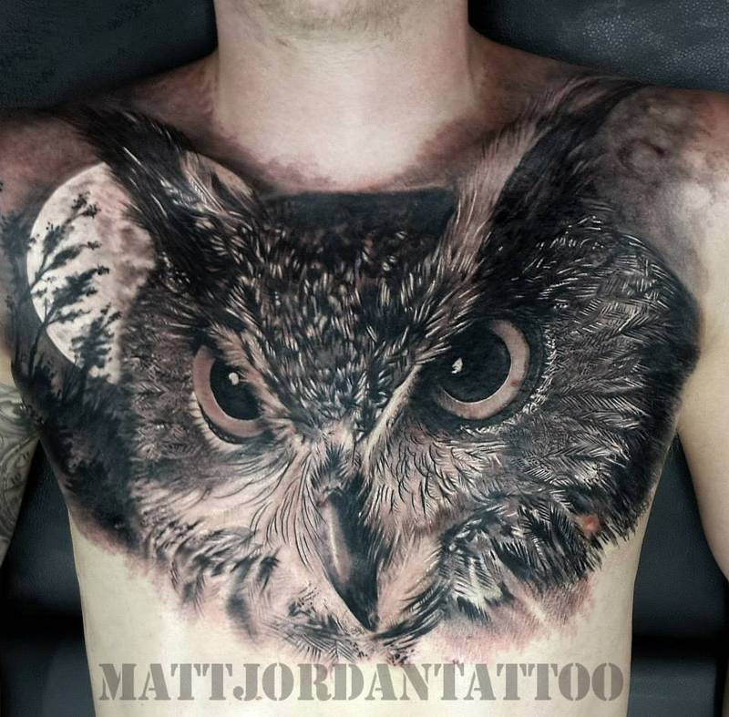 owl tattoo matt jordan