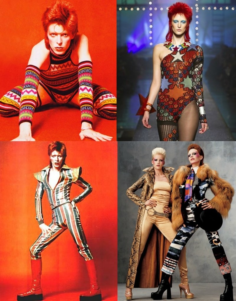 David Bowie glam rock inspirations