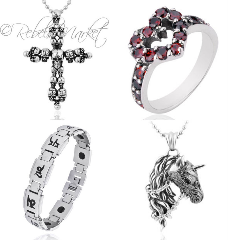 Punk fashion jewelry