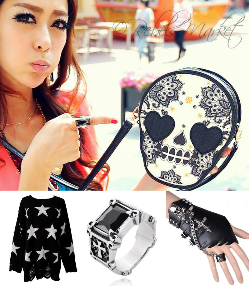 women punk fashion accessories