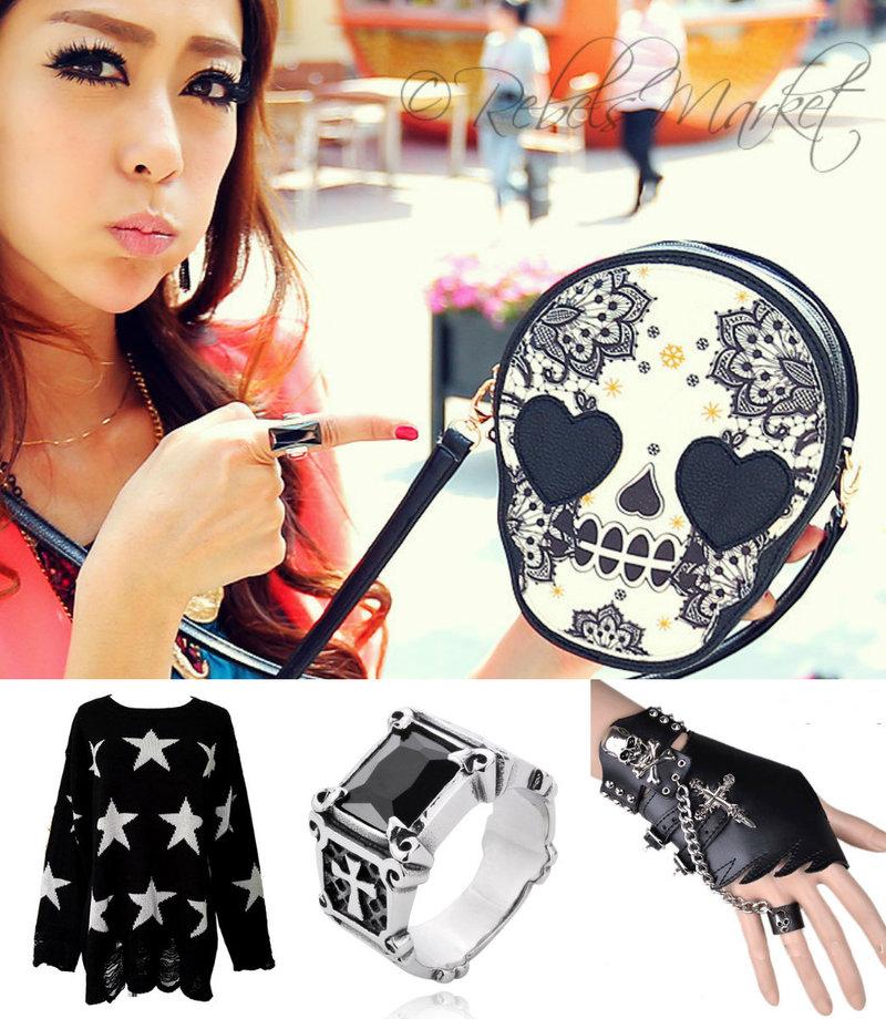 women punk fashion accessories