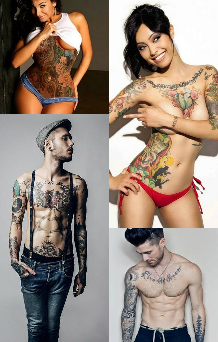 tattooed guys and girls