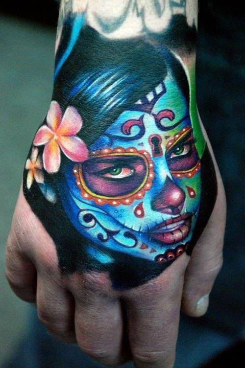 Kyle cotterman hand tattoo day dead girl