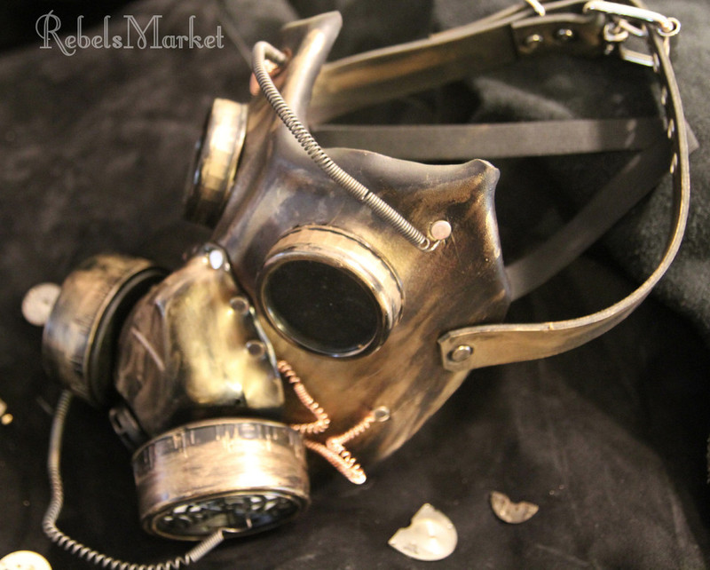 steampunk gas mask