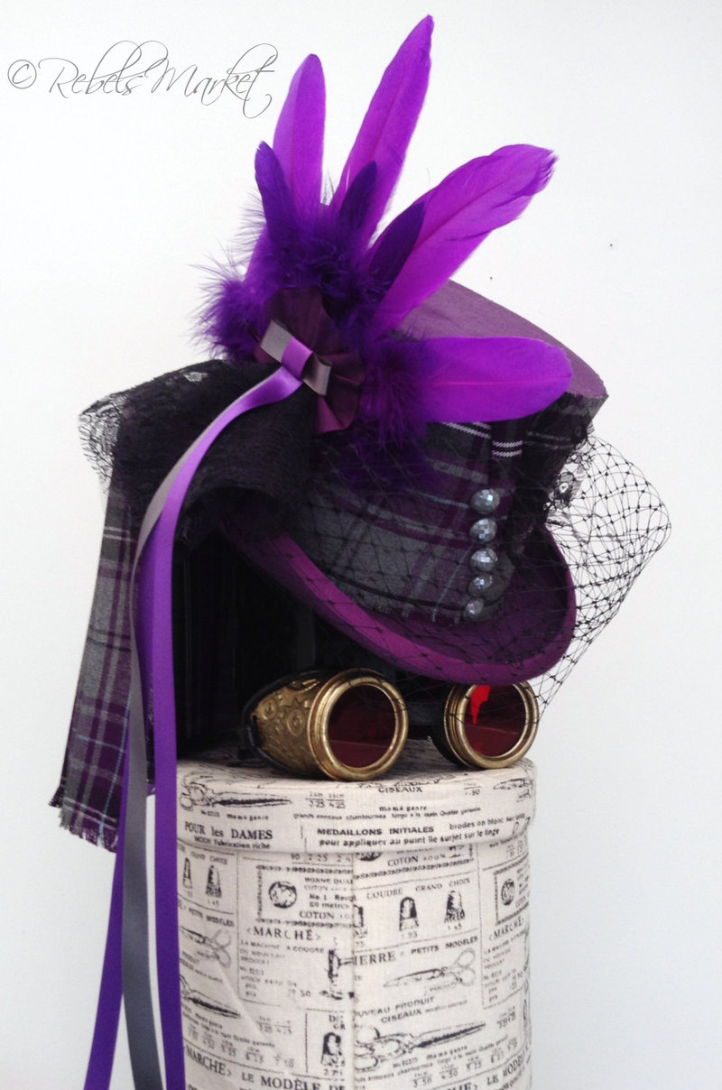 Steampunk top hats for women