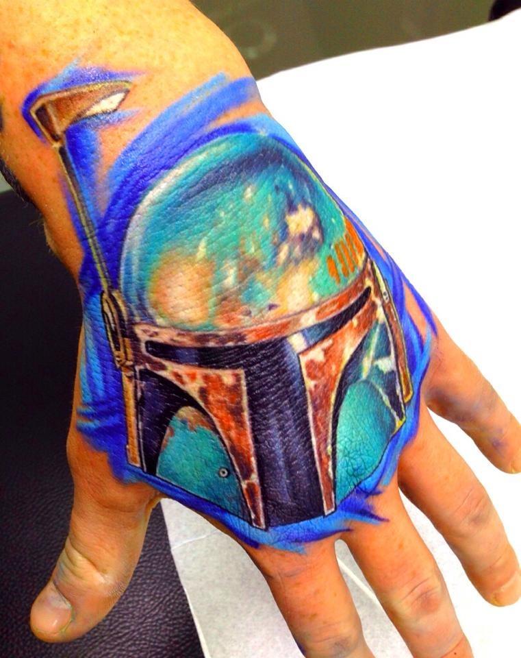 Marcel Russ Iron Man Hand Tattoo color