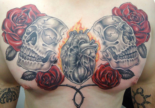 chest men tattoo
