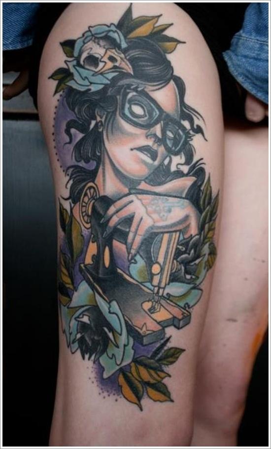 leg tattoos women