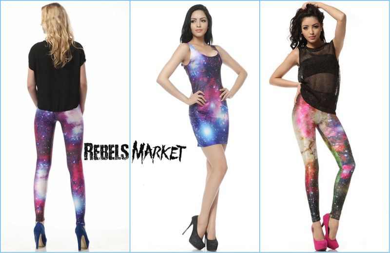 Cosmos Galaxy Universe Dress & Leggings