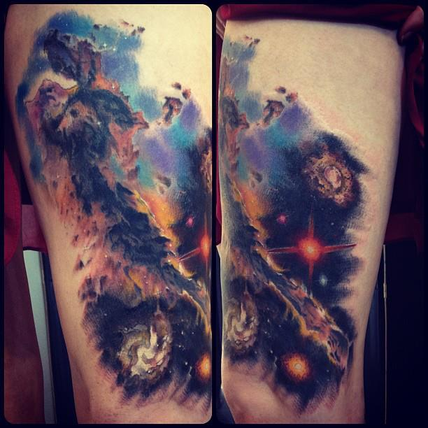 Best Galaxy Tattoos Trend Fashion Wear The Universe On Your Body