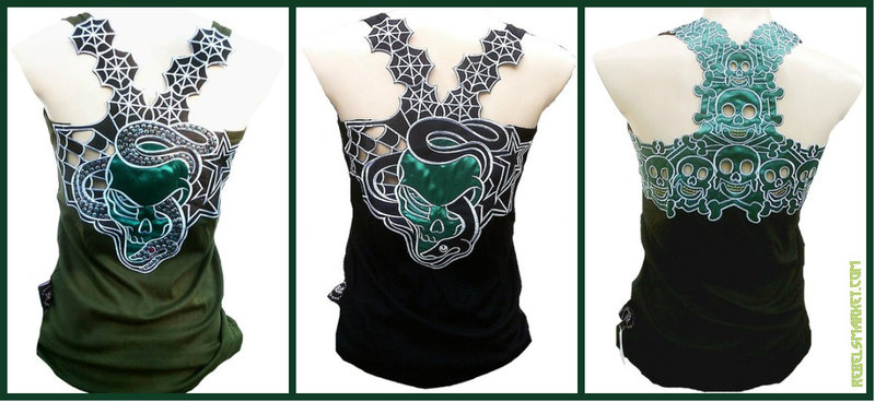 Green Skull Tops - St Patricks Day - Skull Tops