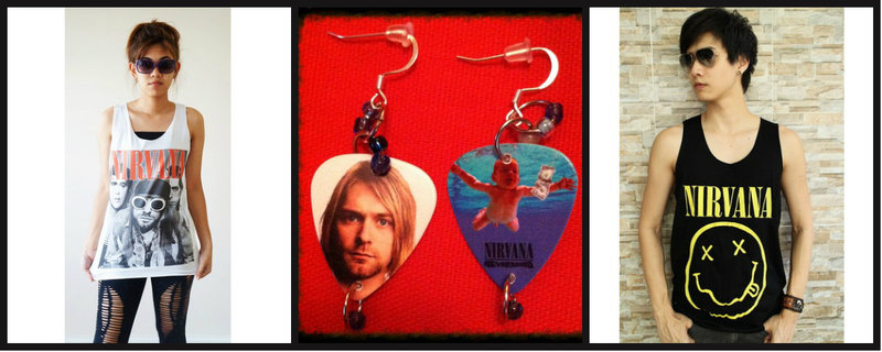 Kurt Cobain Nirvana Inspired Items