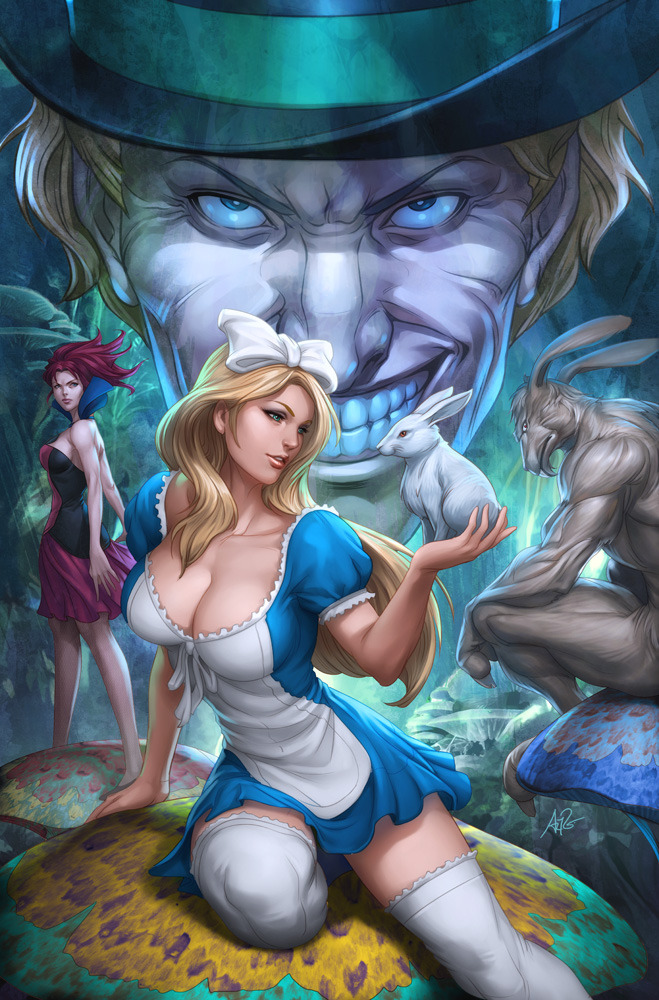 alice wonderland hot Sideshow Art by Artgerm