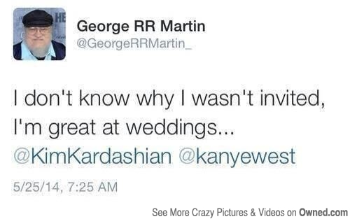 George RR Martin Funny Weddings