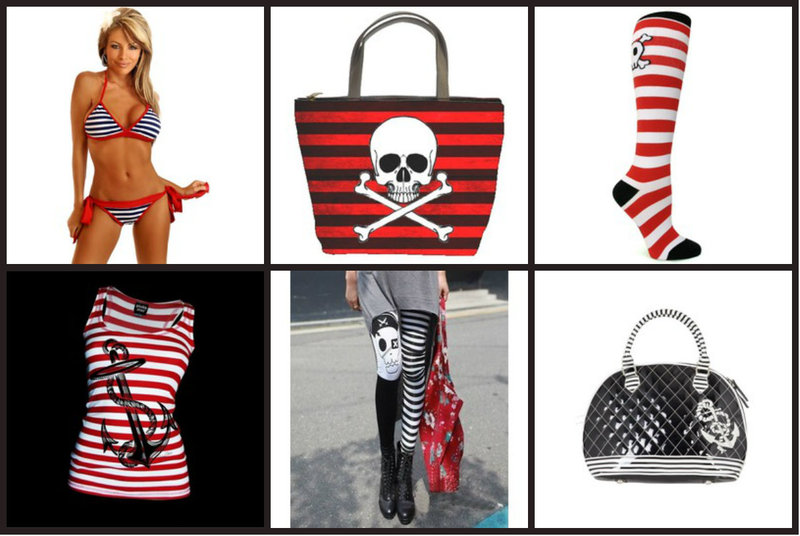 Stripes are essential to nautical fashion