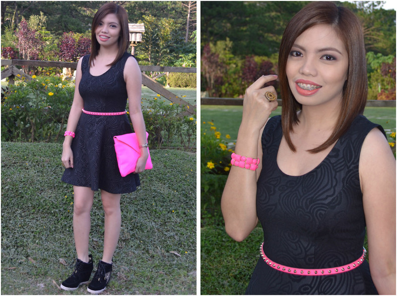 Black Dress Pink Belt