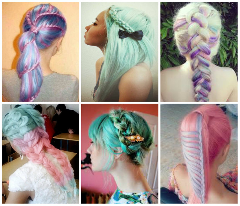 Pastel Hair in Braids