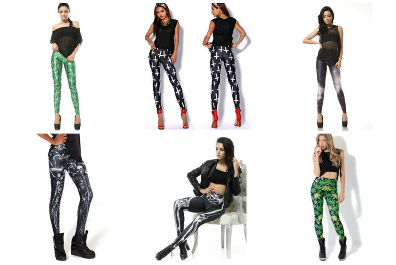 Draw focus to your legs with print leggings from RebelsMarket.