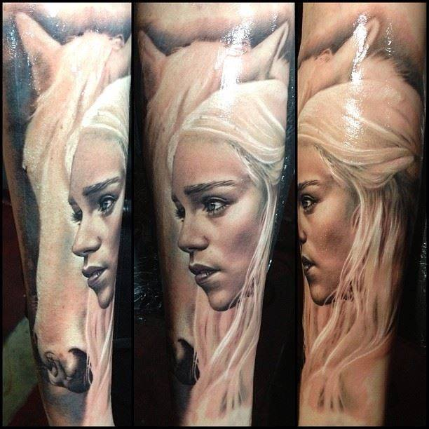 Daenerys' mother of dragons tattoo