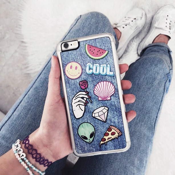 Patches can be used to customize a phone case.