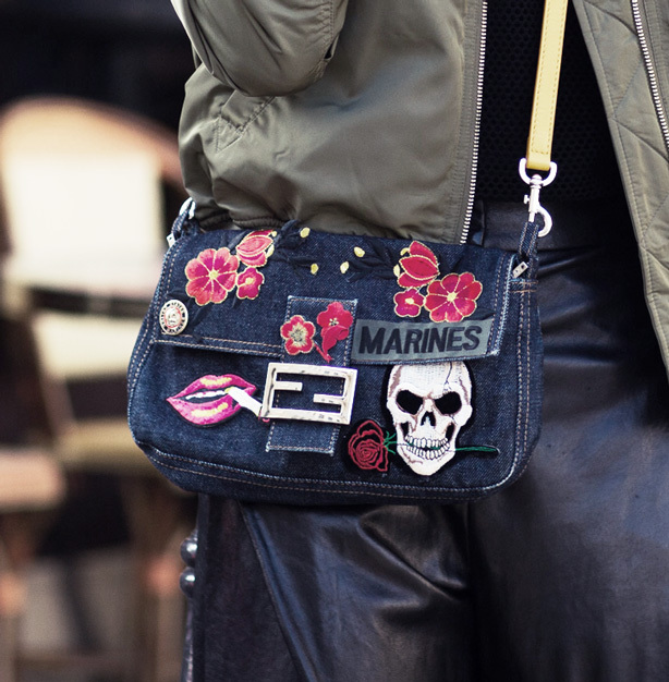 Personalize your handbag with DIY patches.