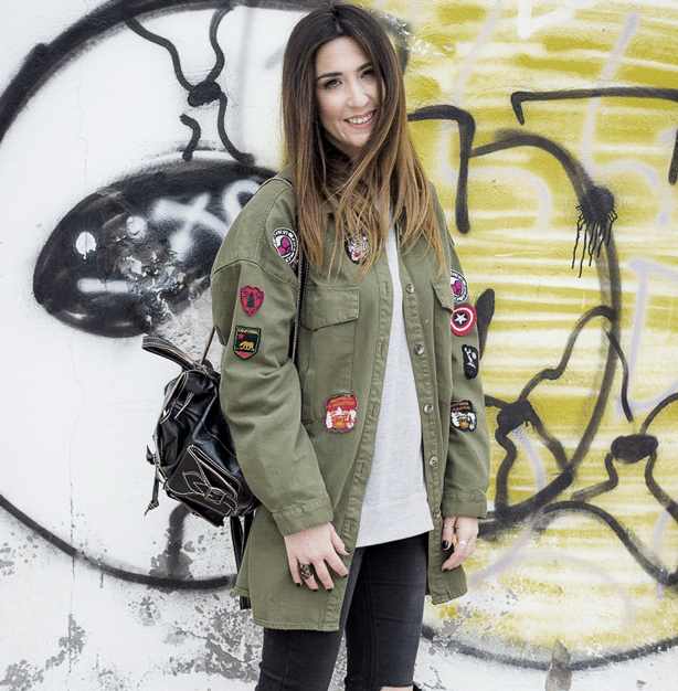 Get creative with patches on military jackets.