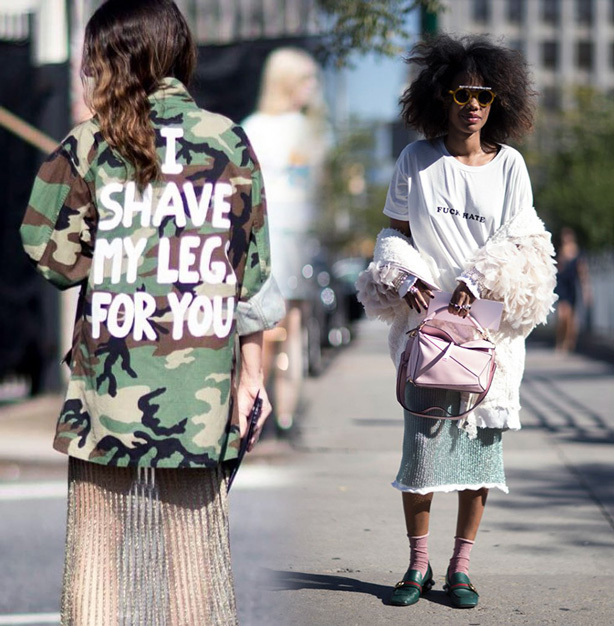 New York Fashion Week Street Style - Stock Up on Graphic Tees