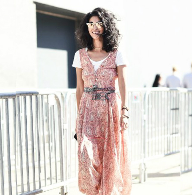 New York Fashion Week Street Style Must Haves - Update a 90s slip dress with modern layer options
